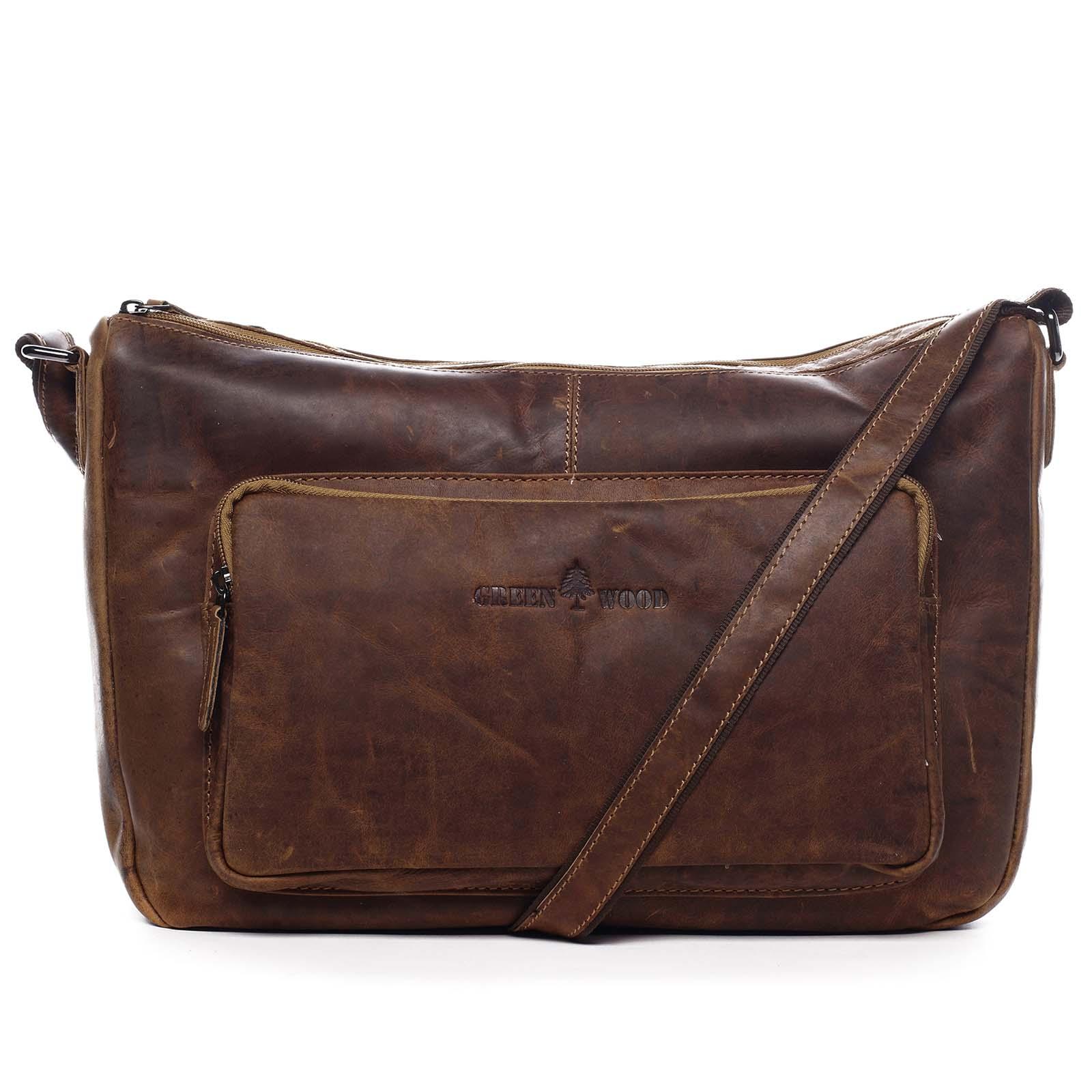 Kožená taška přes rameno hnědá - Greenwood Aboutme