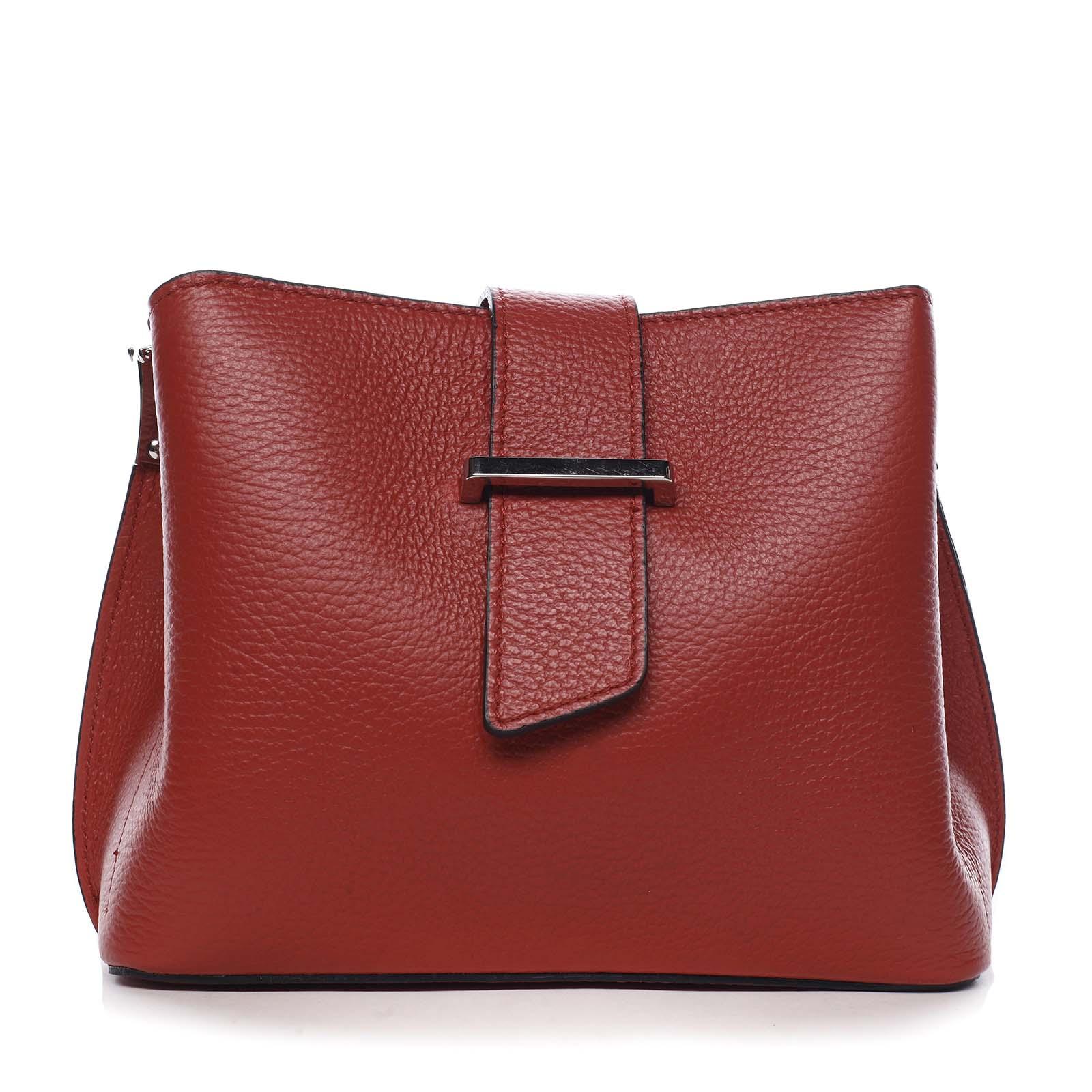 Dámská kožená crossbody kabelka červená - ItalY Euren
