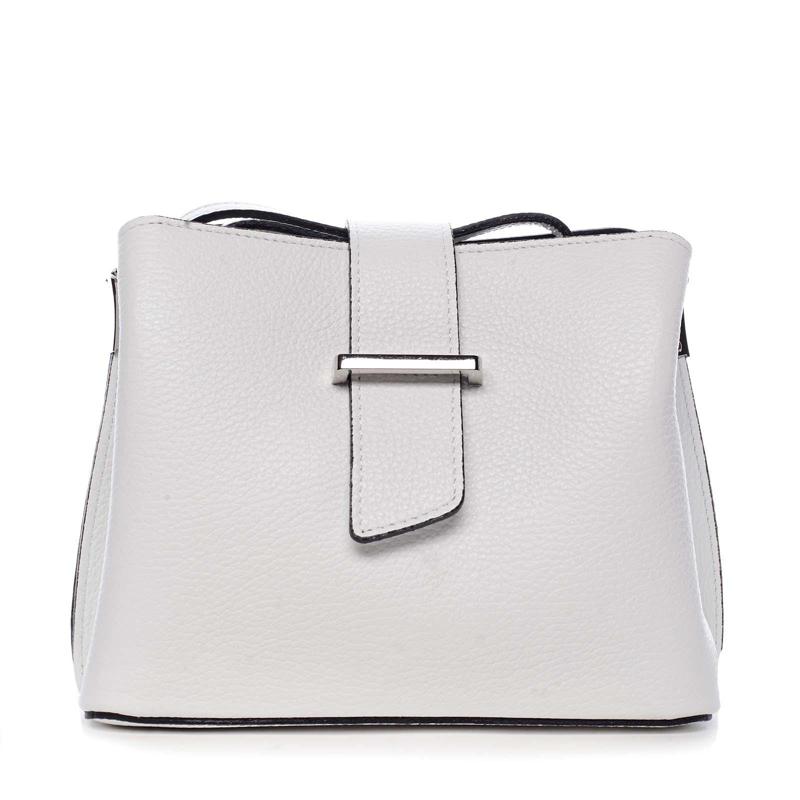 Dámská kožená crossbody kabelka bílá - ItalY Euren