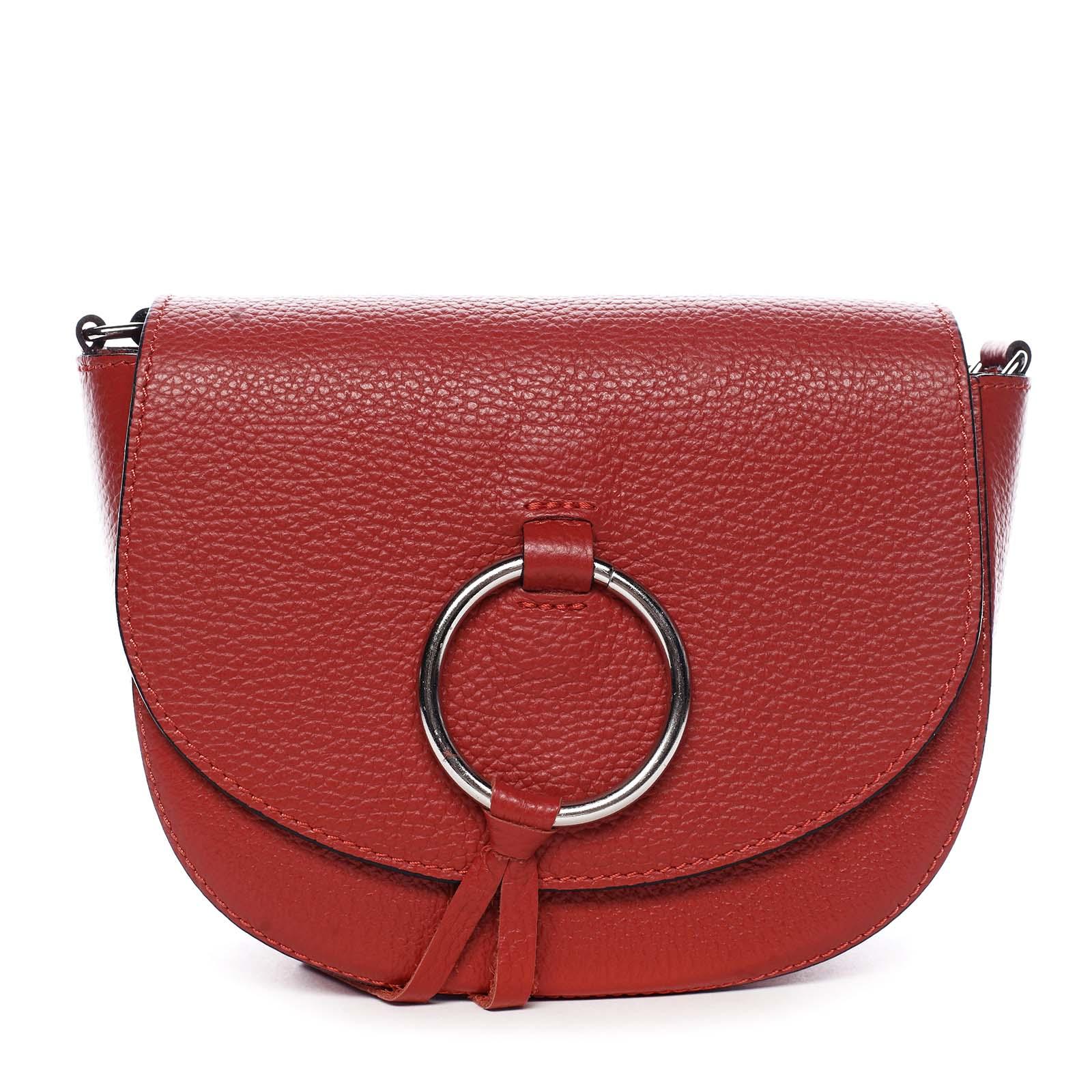 Dámská kožená crossbody kabelka červená - ItalY Vaiana