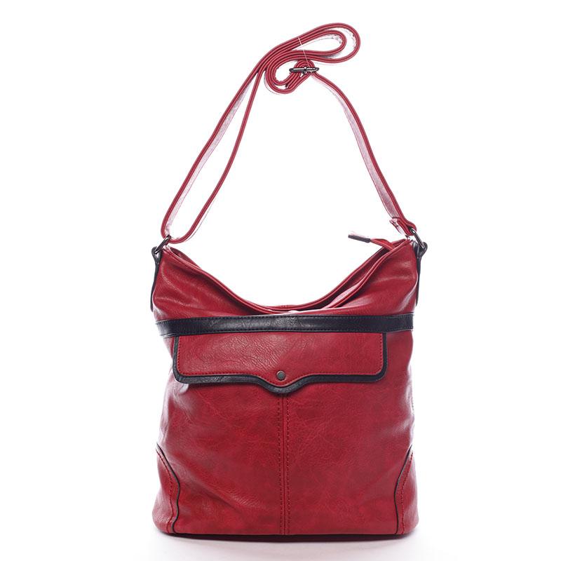 Dámská crossbody kabelka červená - Delami Prunella