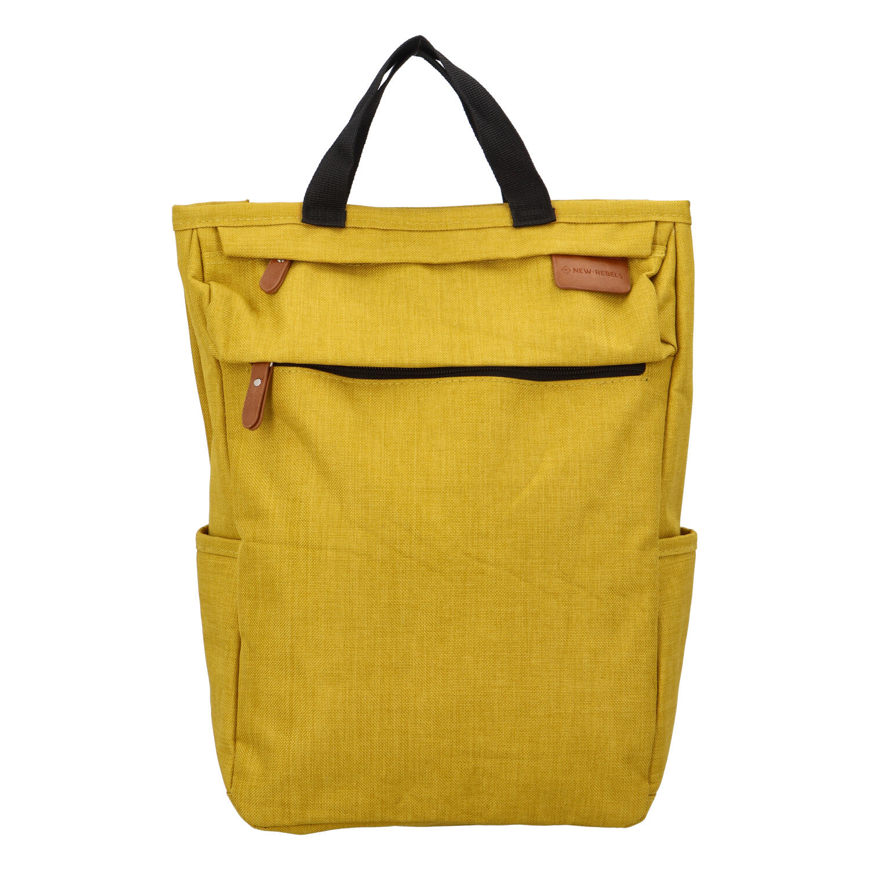 Trendy a stylový žlutý látkový batoh - New Rebels Genderus