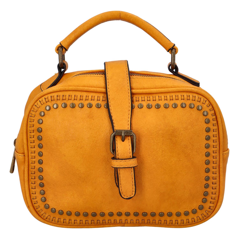 Dámská originální kabelka tmavě žlutá - Paolo Bags Sami
