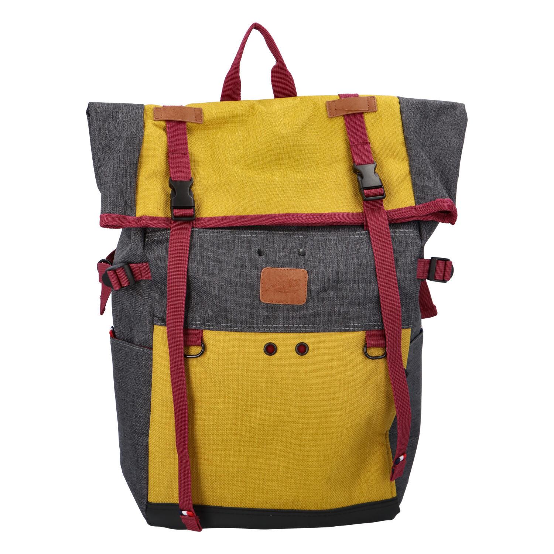 Kombinovaný cestovní batoh černo žlutý - New Rebels Messer
