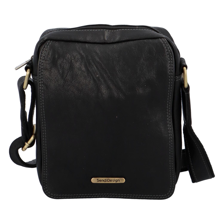 Pánská kožená taška na doklady přes rameno černá - SendiDesign Didier SP
