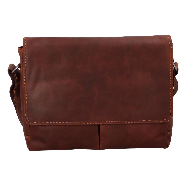 Pánská kožená taška hnědá - Greenwood Rewrite