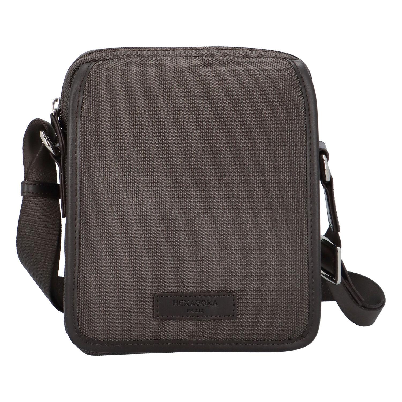 Pánská taška tmavě hnědá - Hexagona D72283