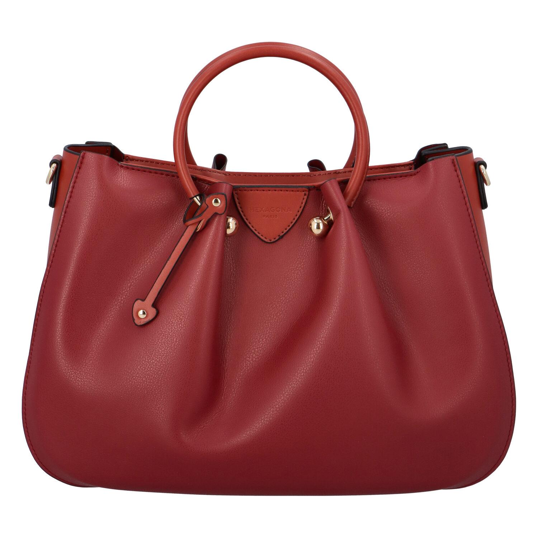 Dámská kabelka do ruky tmavě červená - Hexagona Javida