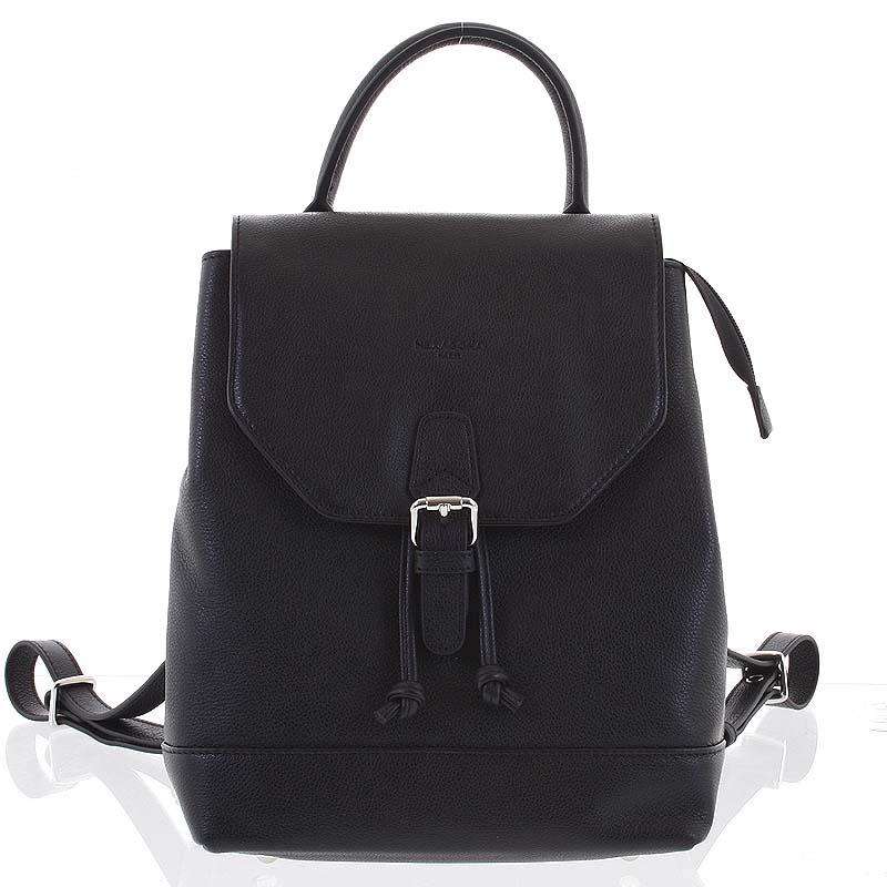 Luxusní kožený černý městský batoh - Hexagona Zoltar