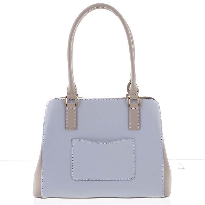Módní dámská kožená modro písková kabelka - Hexagona Zotico