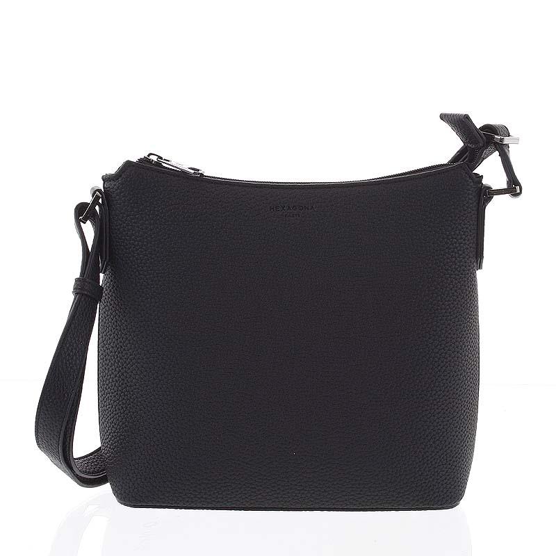 Dámská jemně strukturovaná černá kabelka - Hexagona Zinaida