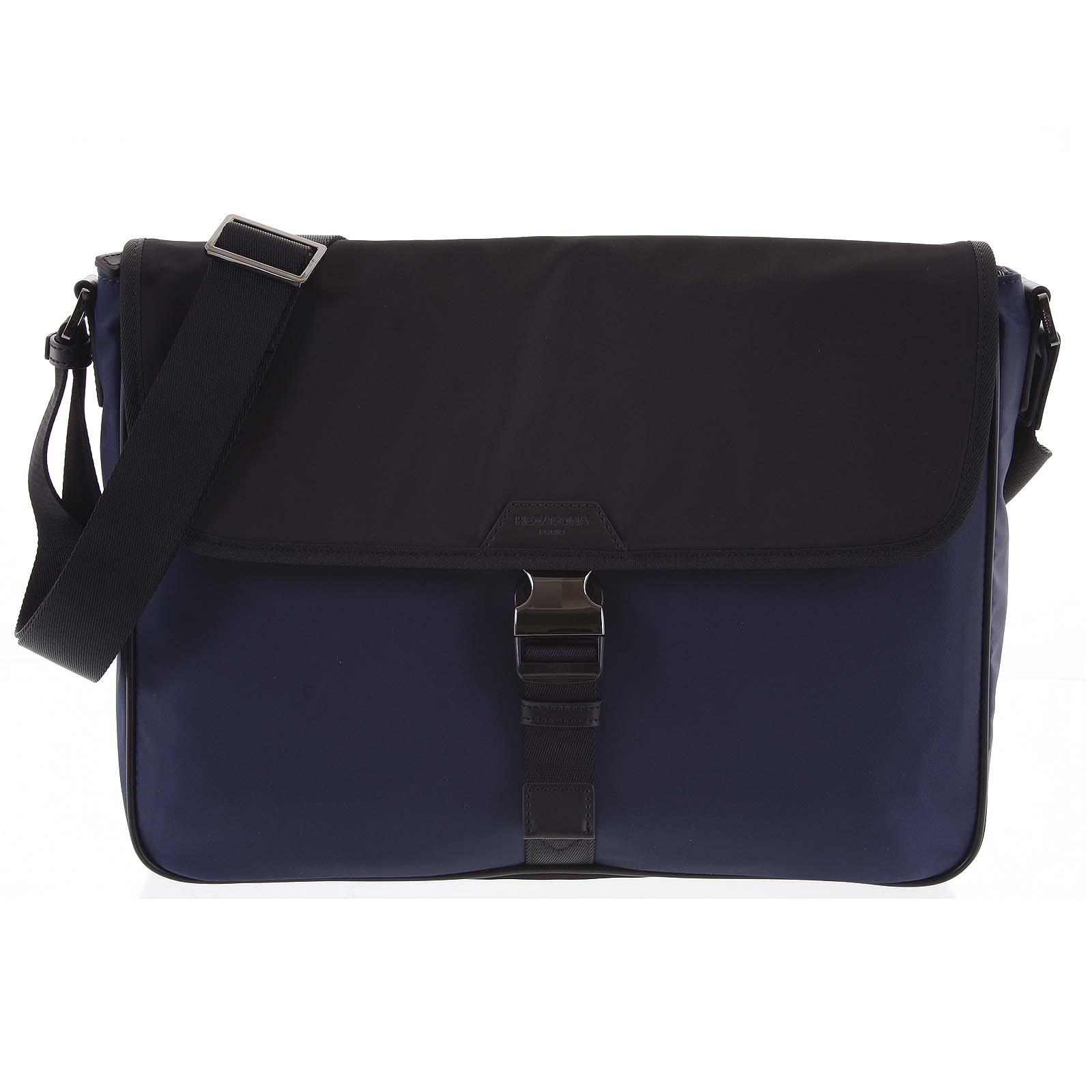 Crossbody taška na notebook modro černá - Hexagona Baccus