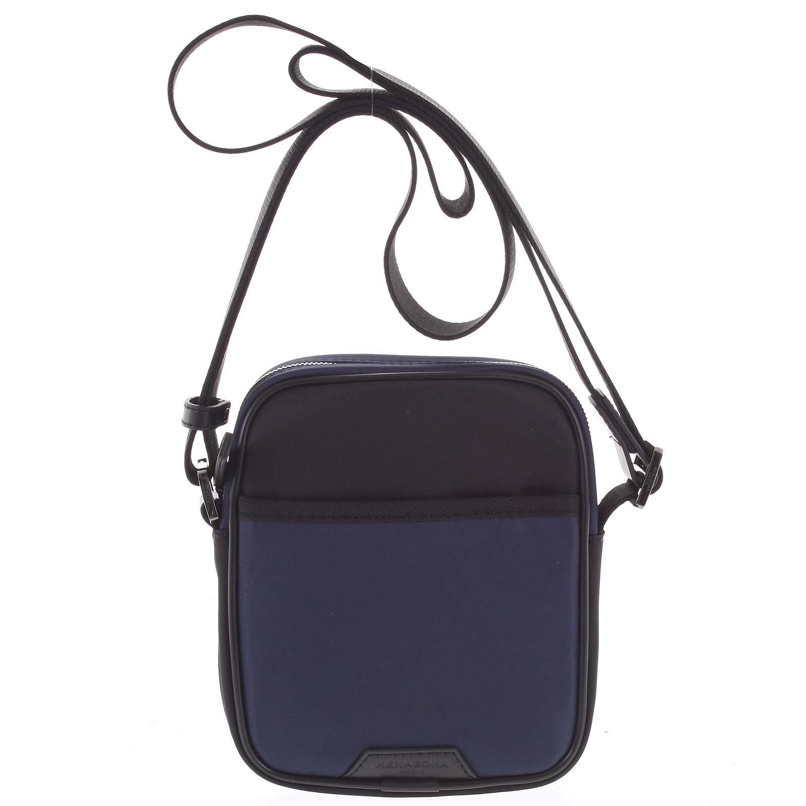 Malá pánská crossbody taška modro černá - Hexagona Arga