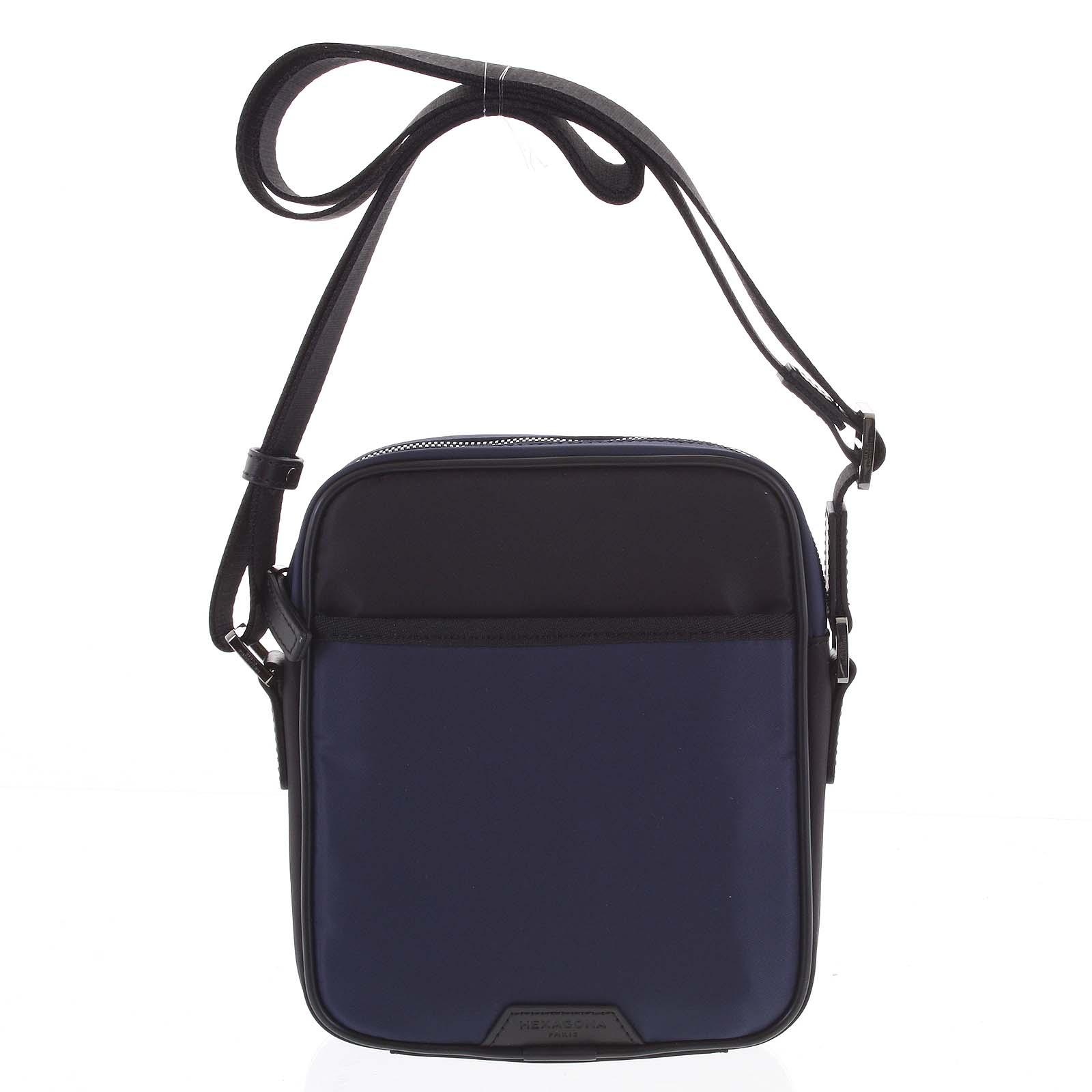 Pánská crossbody taška modro černá - Hexagona Aquino
