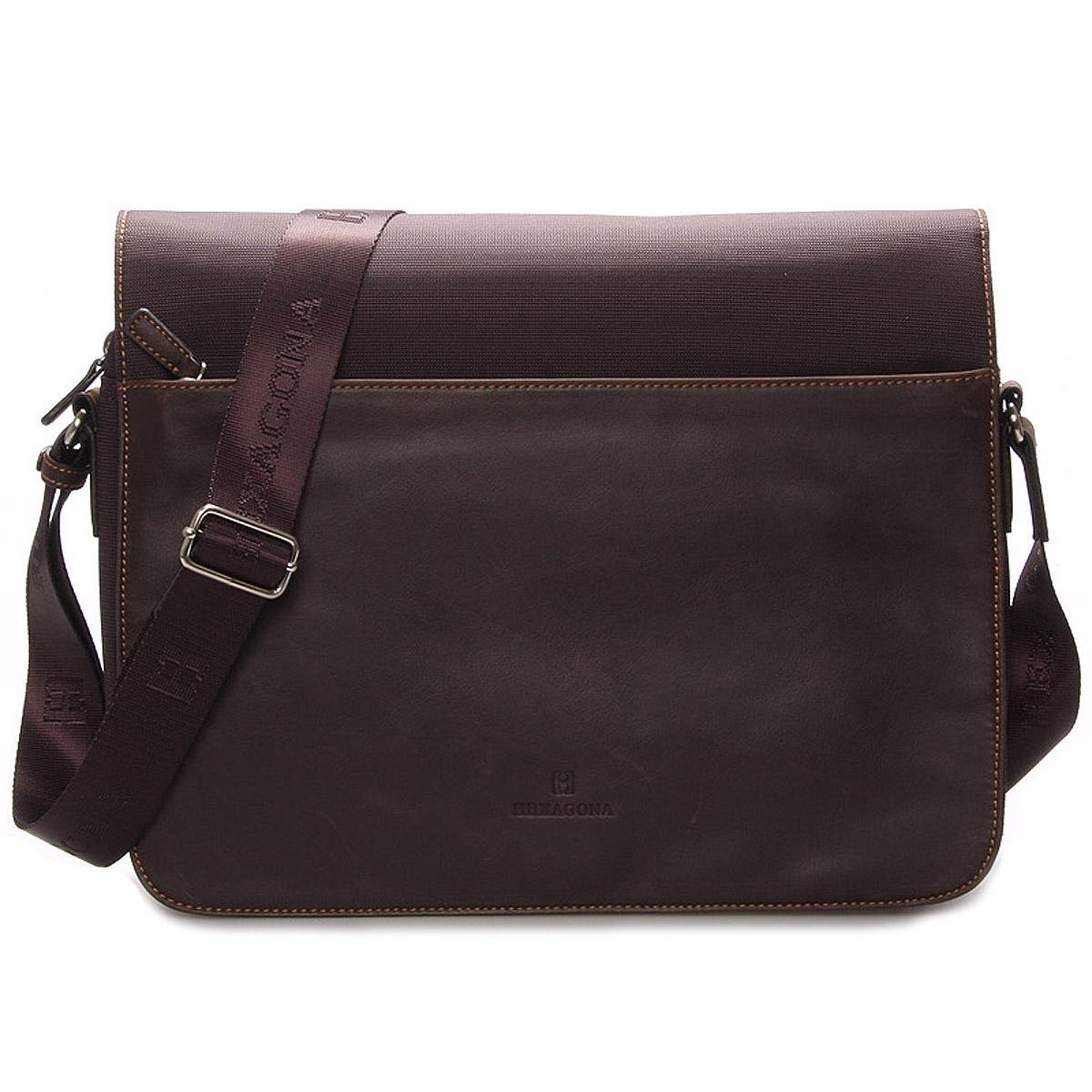 Pánská kožená taška hnědá - Hexagona Tavin