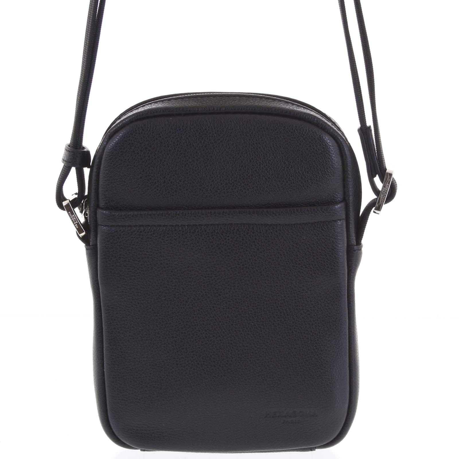 Pánská kožená taška na doklady černá - Hexagona Yesterday