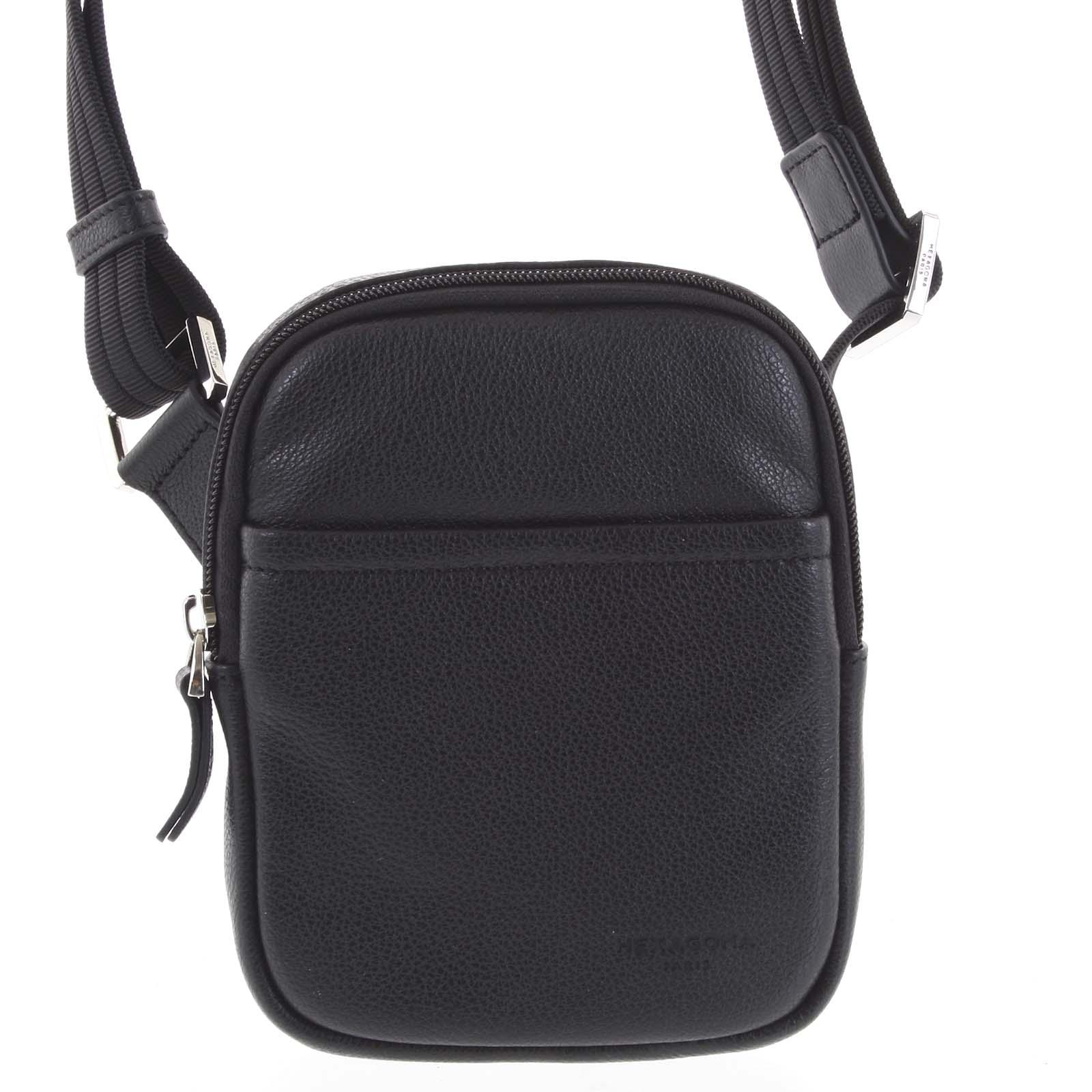 Pánská kožená taška na doklady černá - Hexagona Monday
