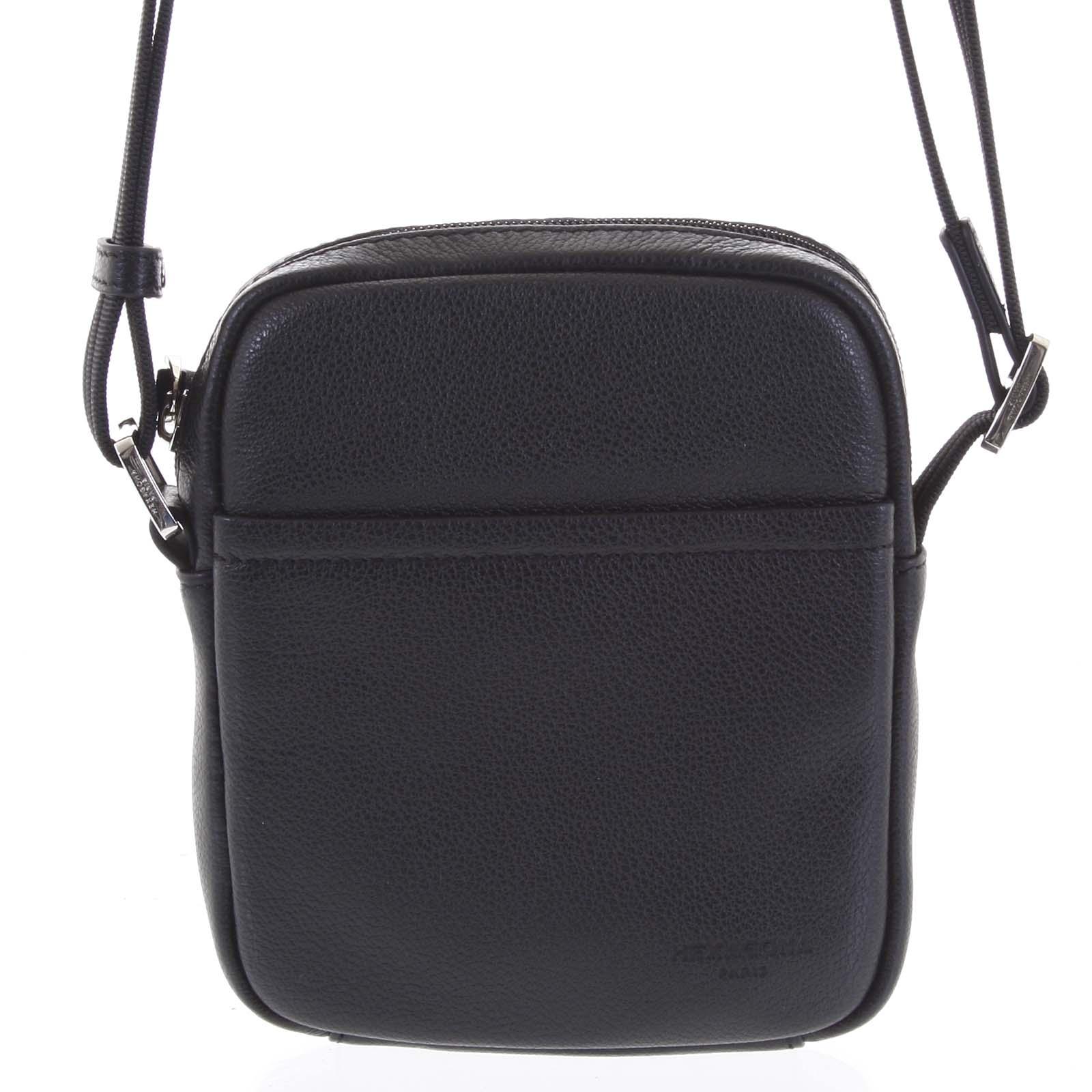 Pánská kožená taška na doklady černá - Hexagona Wednesday