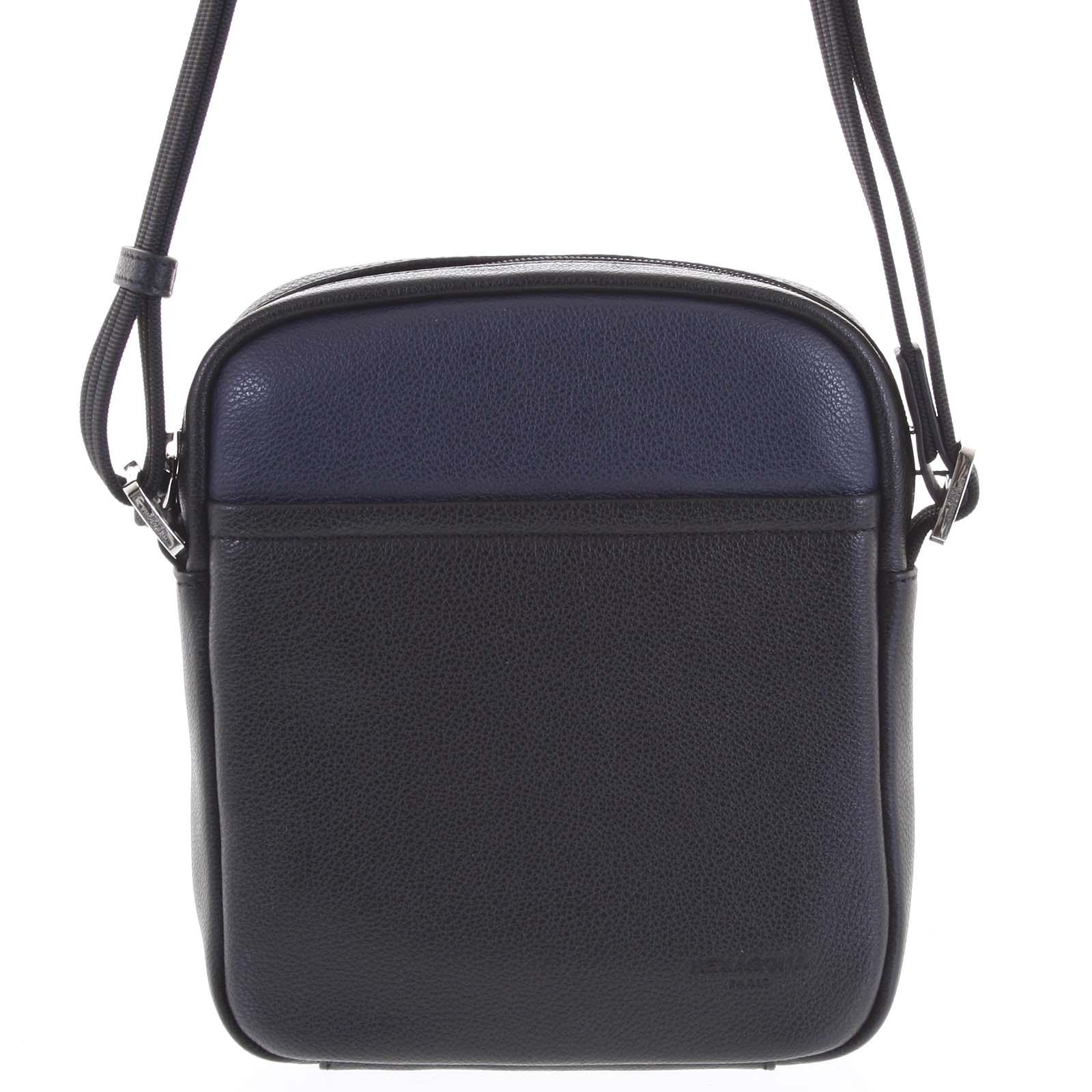 Pánská kožená taška na doklady černo modrá - Hexagona Thursday