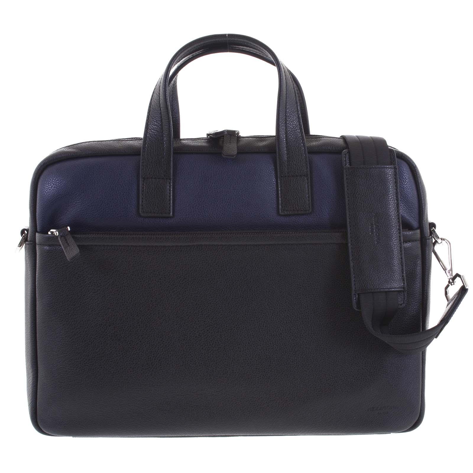 Luxusní pásnká kožená taška černo modrá - Hexagona Friday