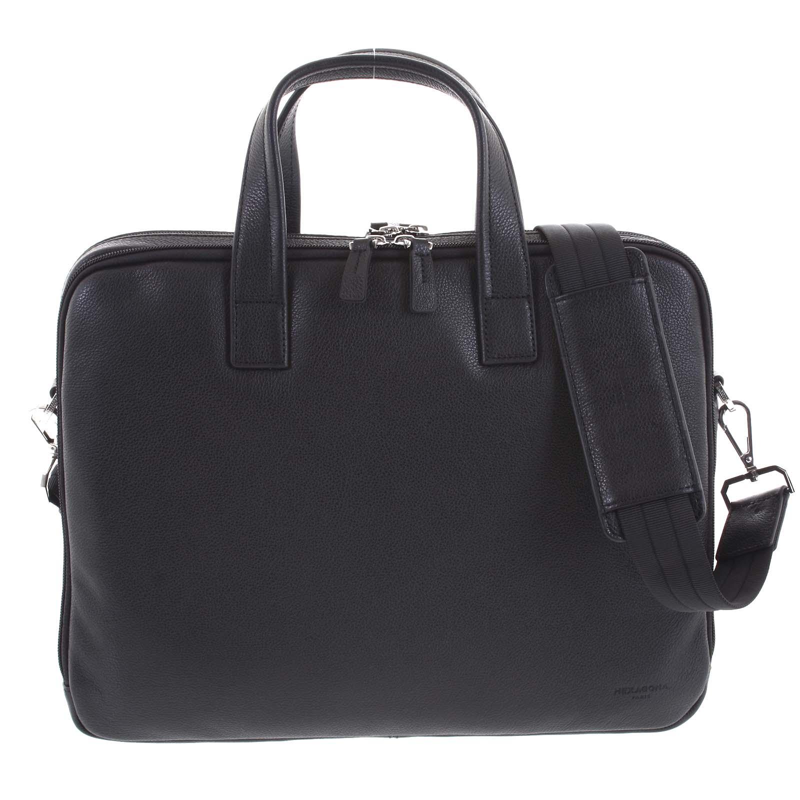 Luxusní kožená taška černá - Hexagona Saturday