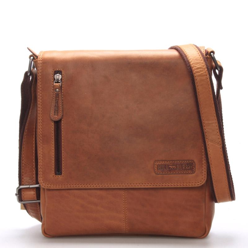 Luxusní pánská kožená taška hnědá - Hill Burry Otto
