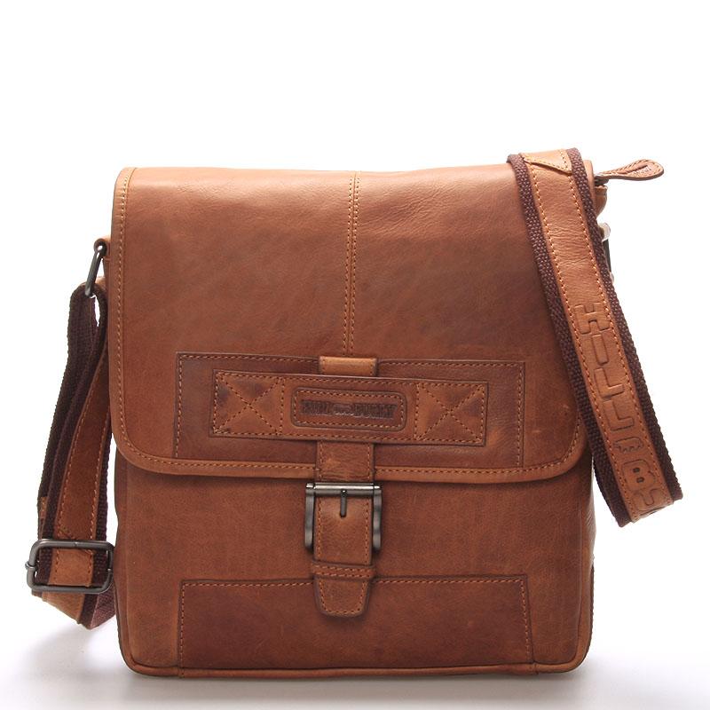 Luxusní kožený messenger hnědý - Hill Burry Ernst