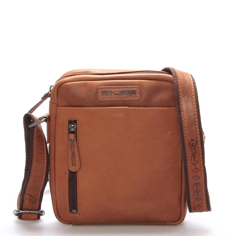 Luxusní pánská kožená taška hnědá - Hill Burry Werner
