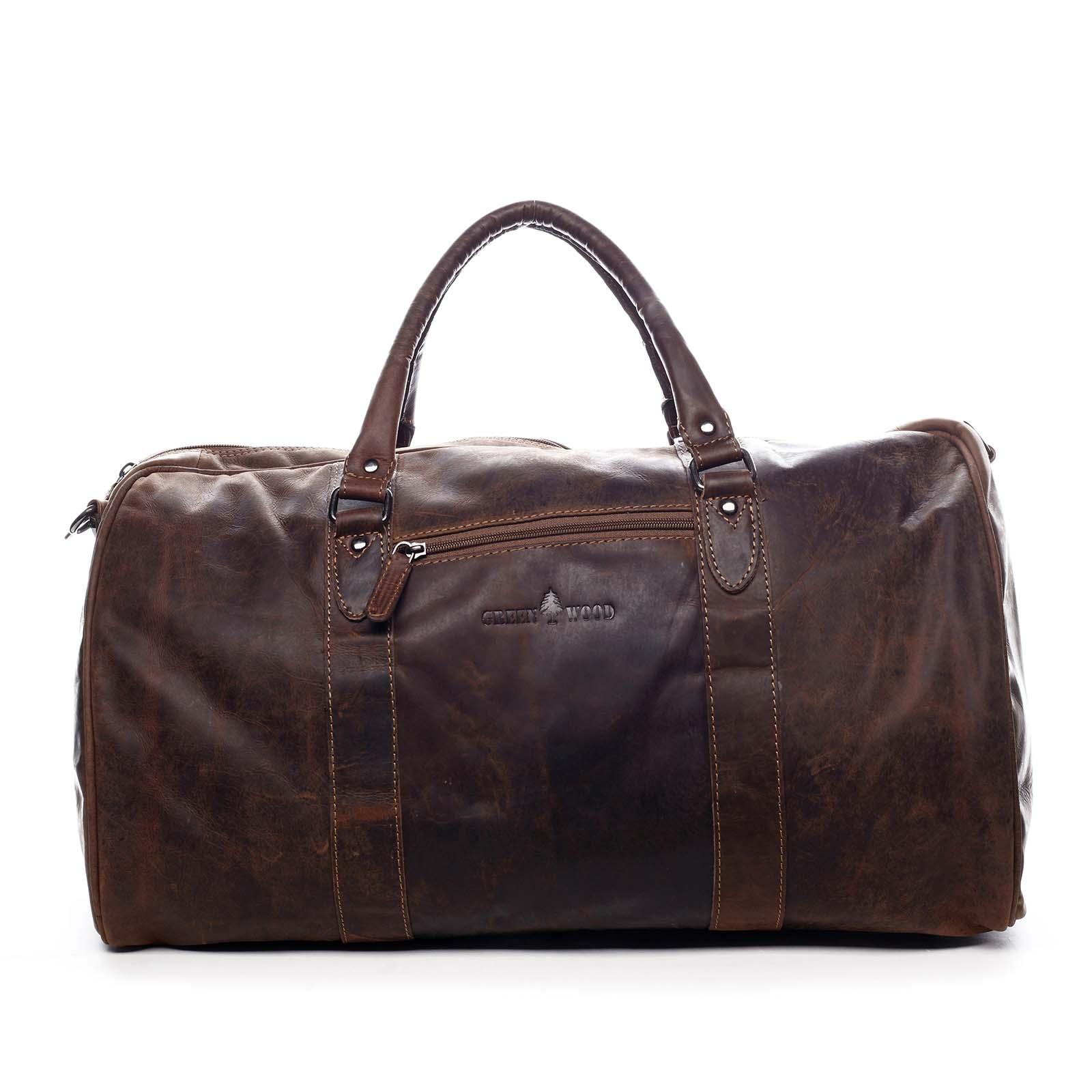 Kožená cestovní taška hnědá - Greenwood Cooper