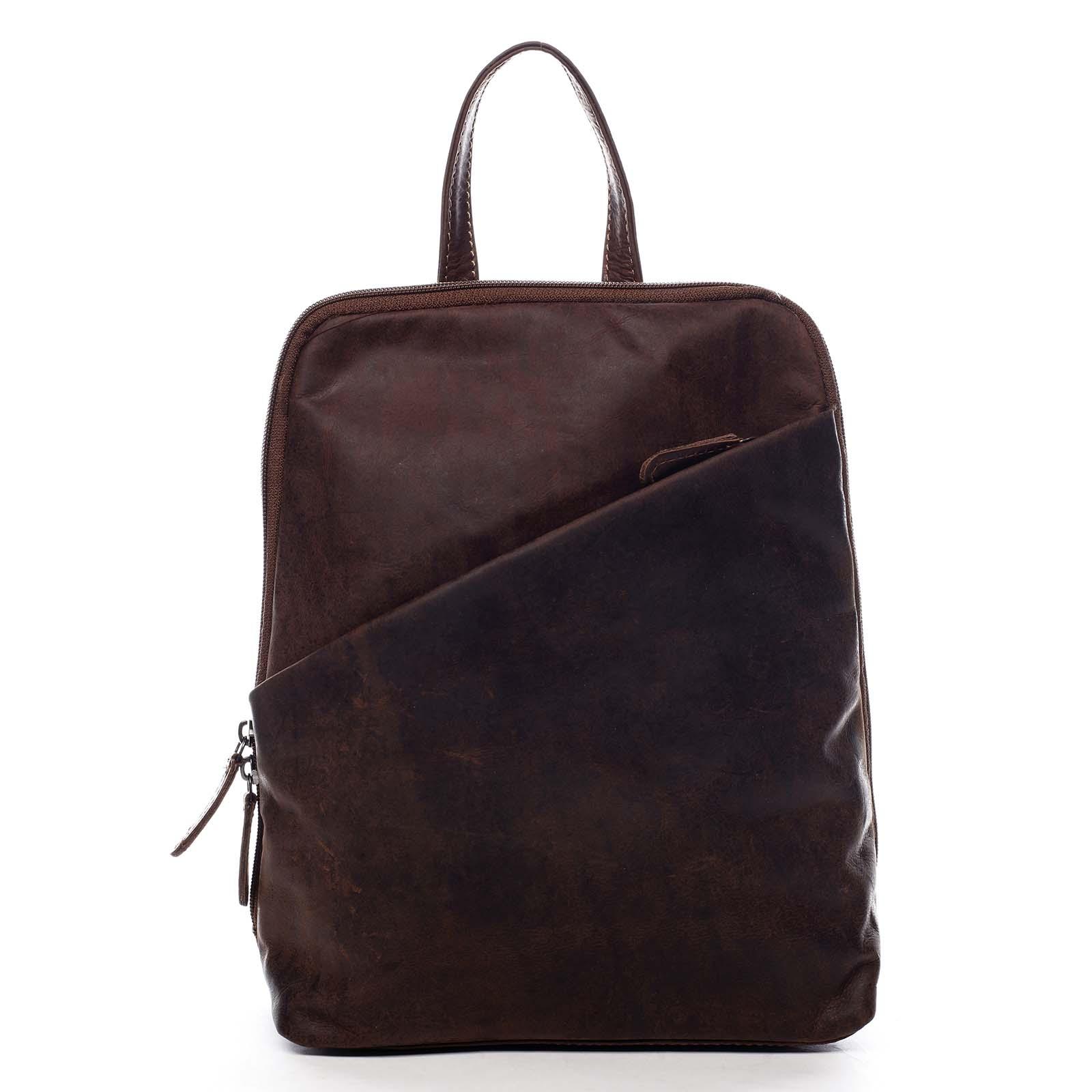 Dámský kožený batůžek hnědý - Greenwood Conan