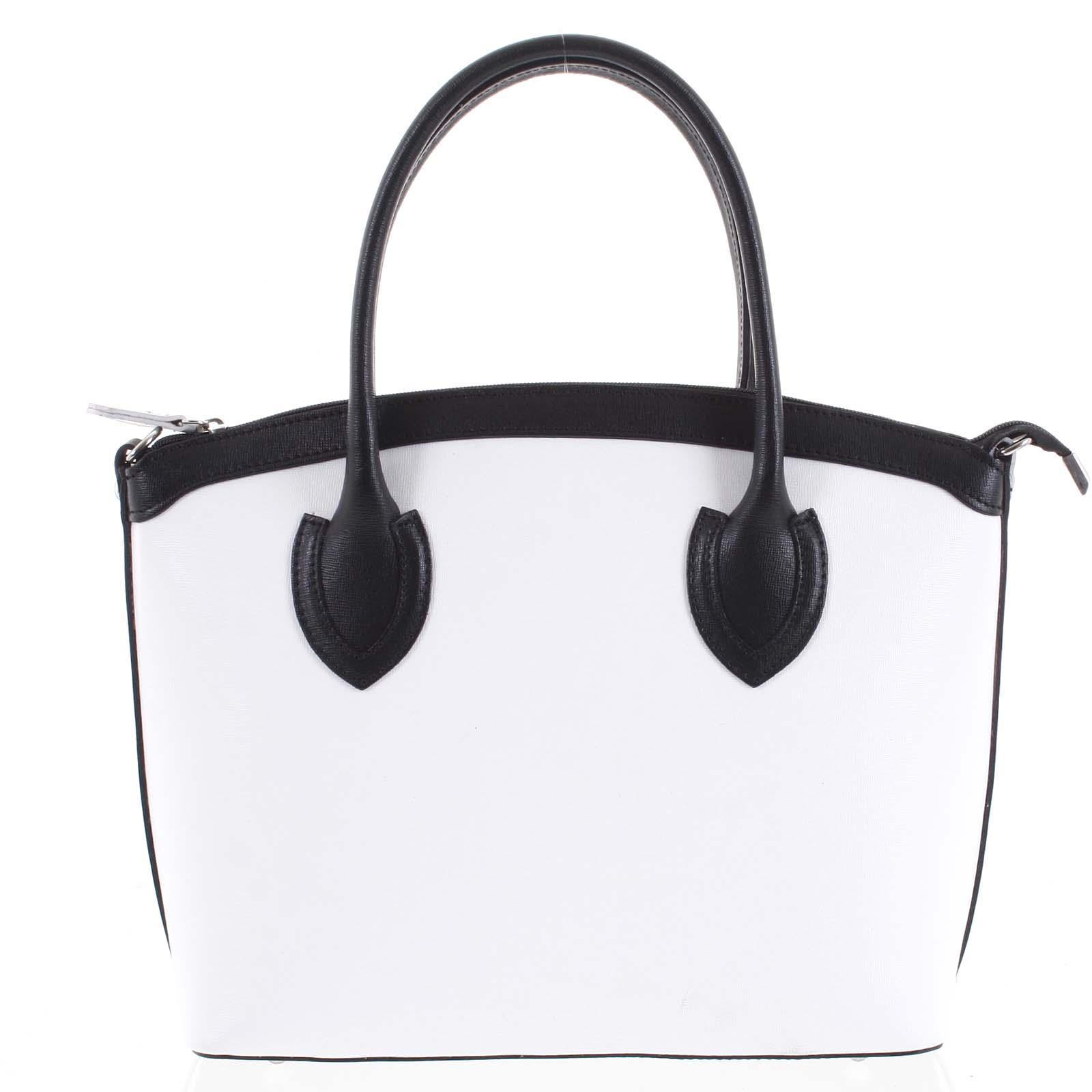 Dámská kožená kabelka bílá - ItalY Garden