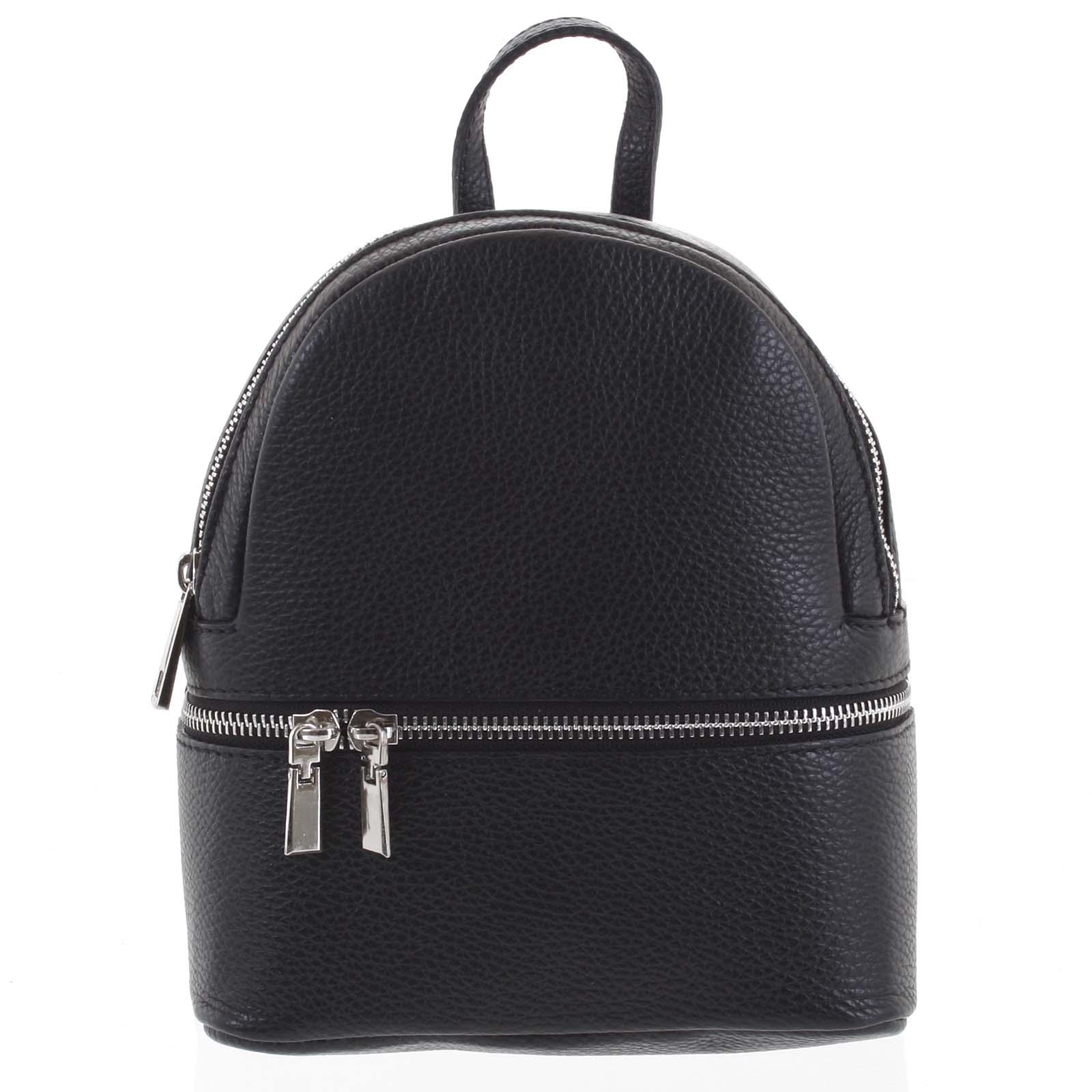 Dámský kožený batůžek černý - ItalY Rocme