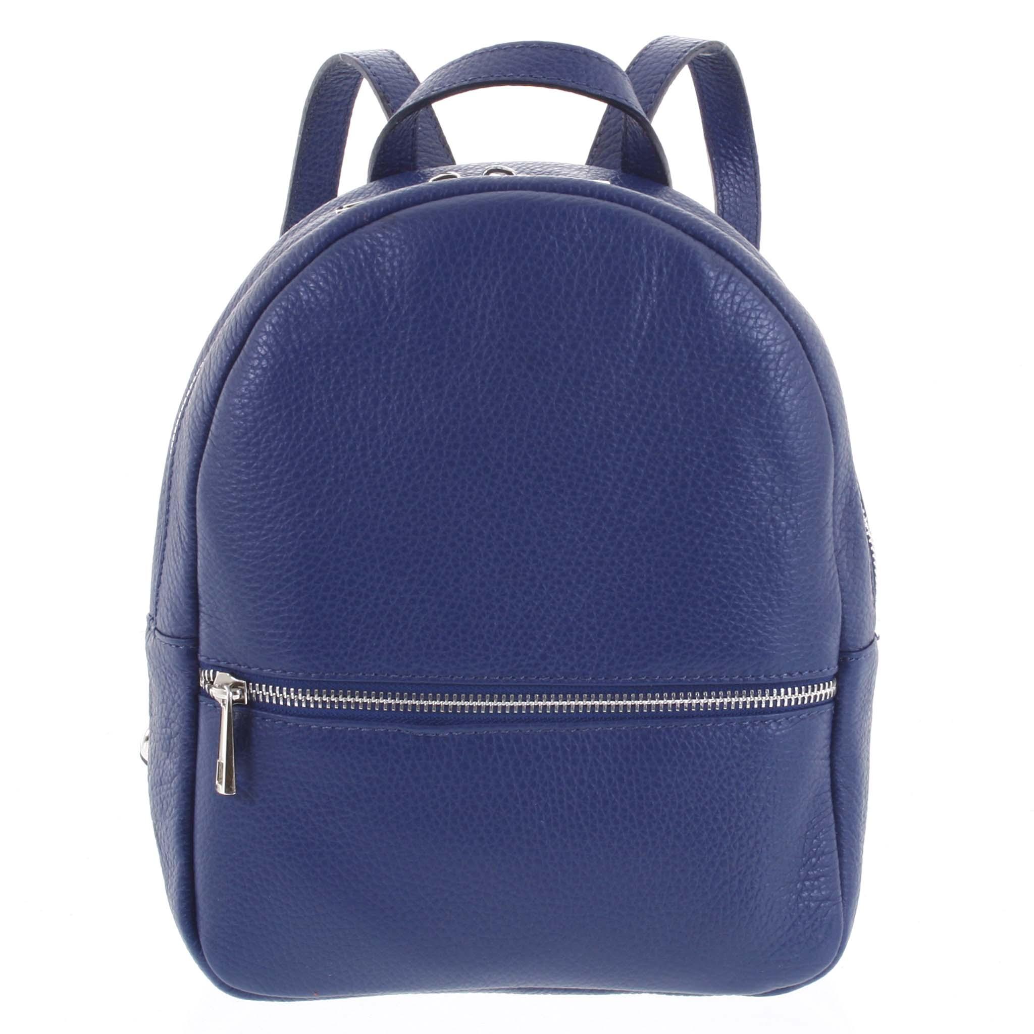 Dámský kožený batůžek tmavě modrý - ItalY Mouseph