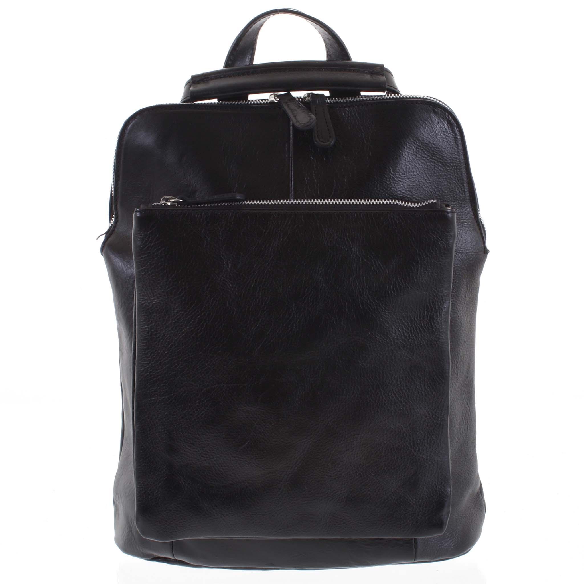 Dámský kožený batoh kabelka černý - ItalY Englidis