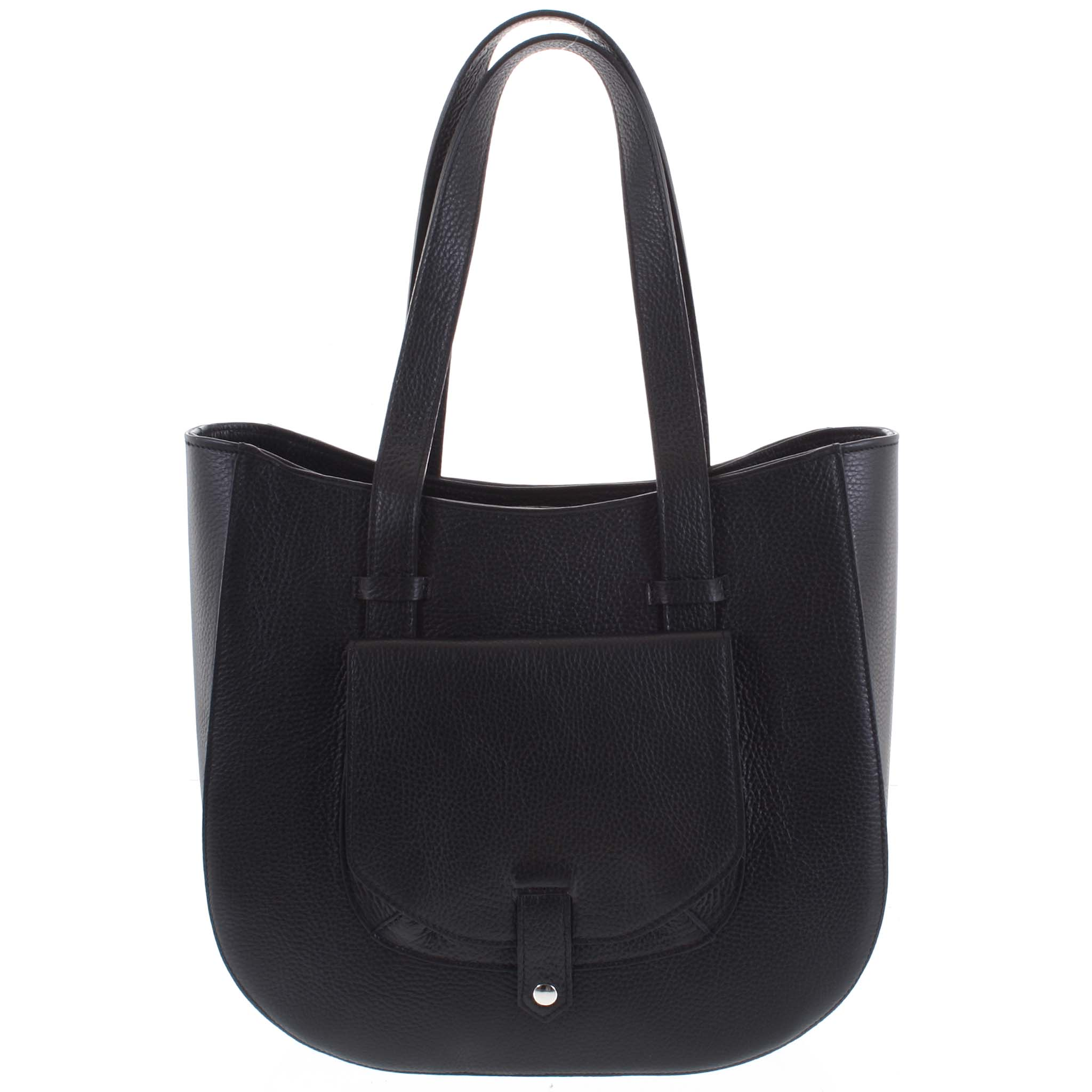 Dámská kožená kabelka přes rameno černá - ItalY Normani