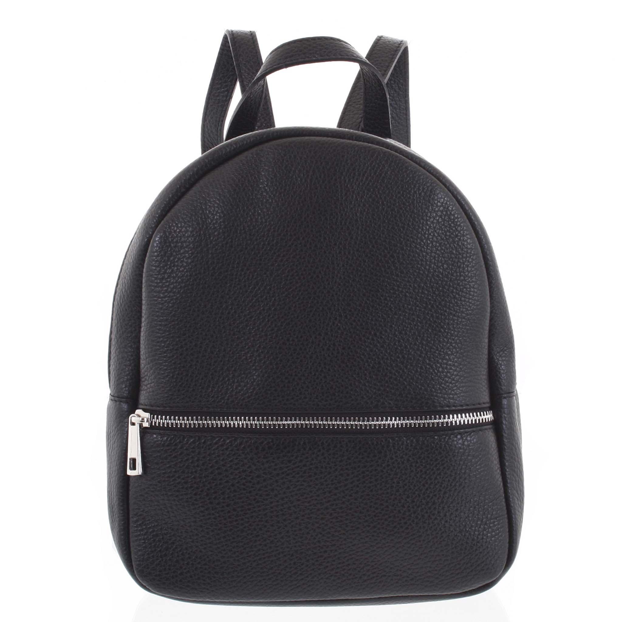 Dámský kožený batůžek černý - ItalY Mouseph