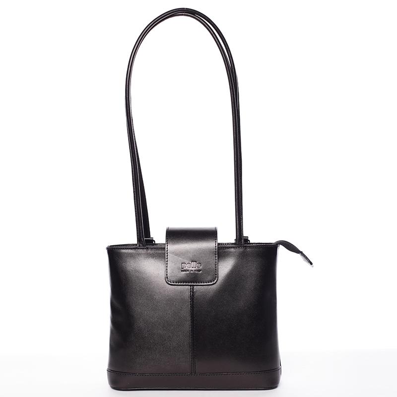 Unikátní dámská kožená kabelka/batoh černá - ItalY Zephyra