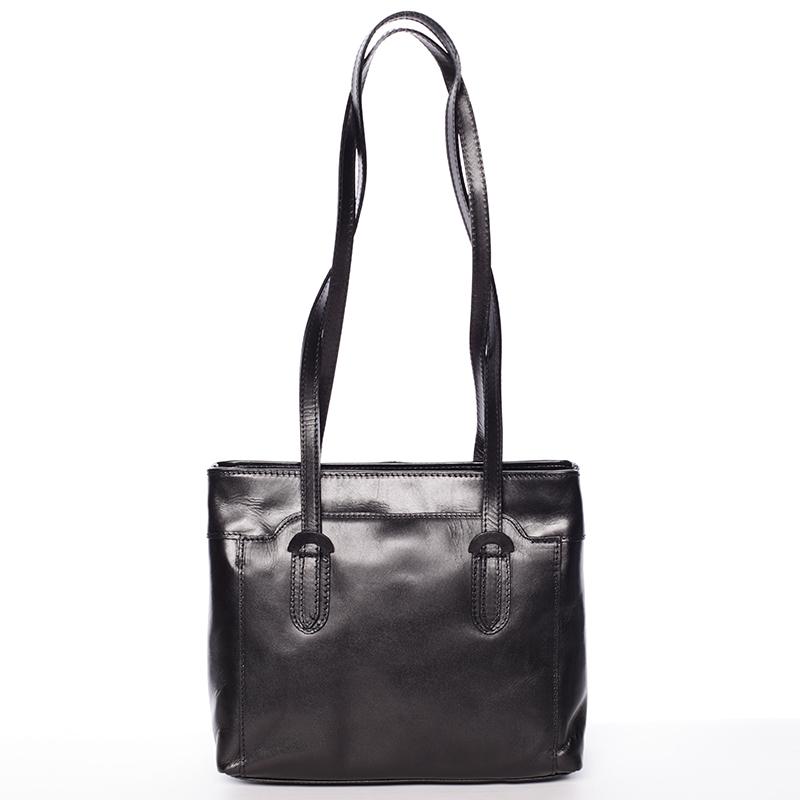 Černá kožená kabelka přes rameno - ItalY Yura