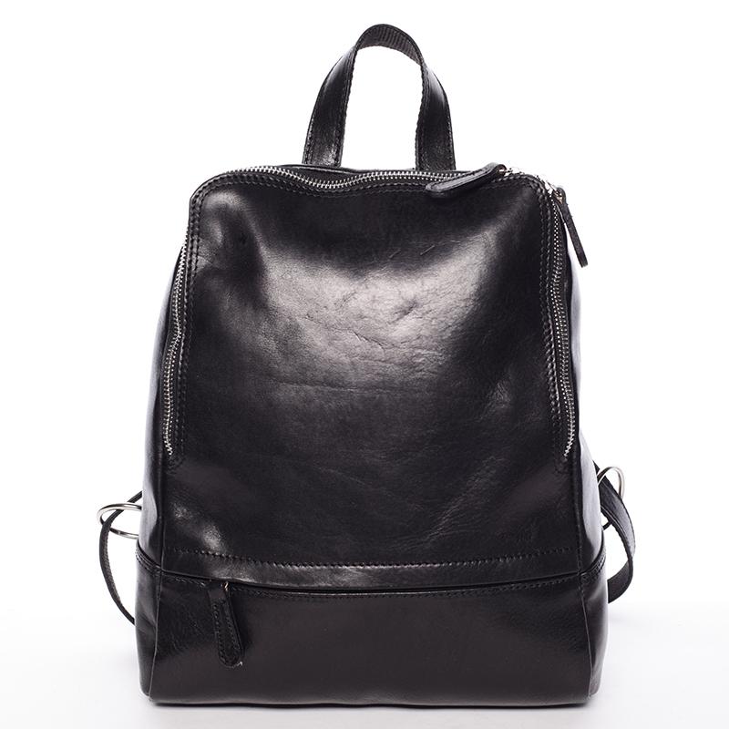 Dámský kožený batůžek černý - ItalY Zeus