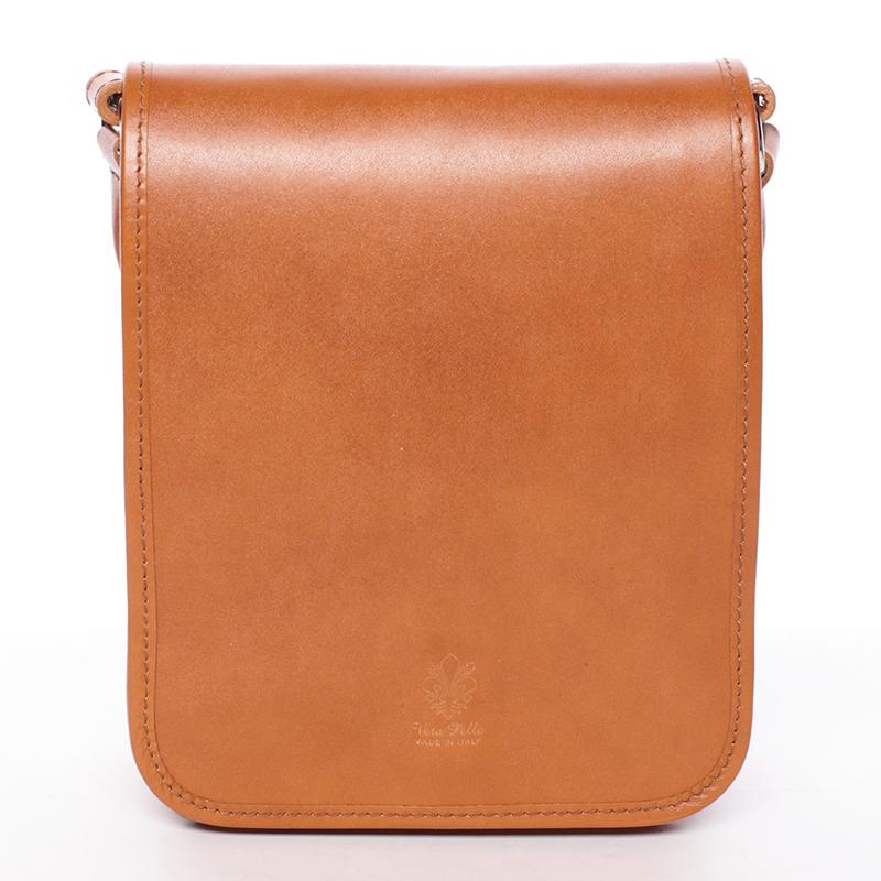 Luxusní světle hnědá kožená taška přes rameno ItalY Harper