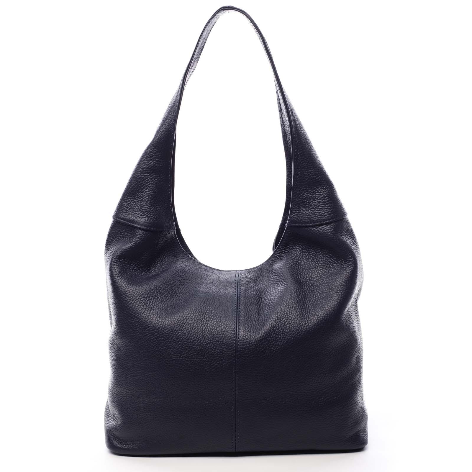 Dámská kožená kabelka přes rameno tmavě modrá - ItalY SkyFull