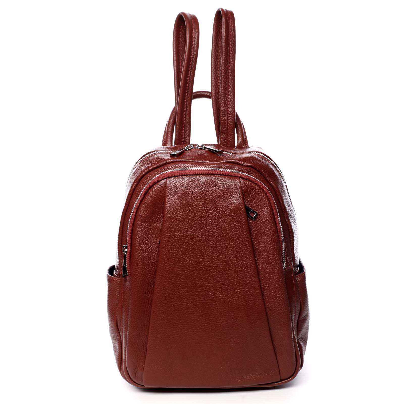Dámský kožený batoh červený - ItalY Celestia