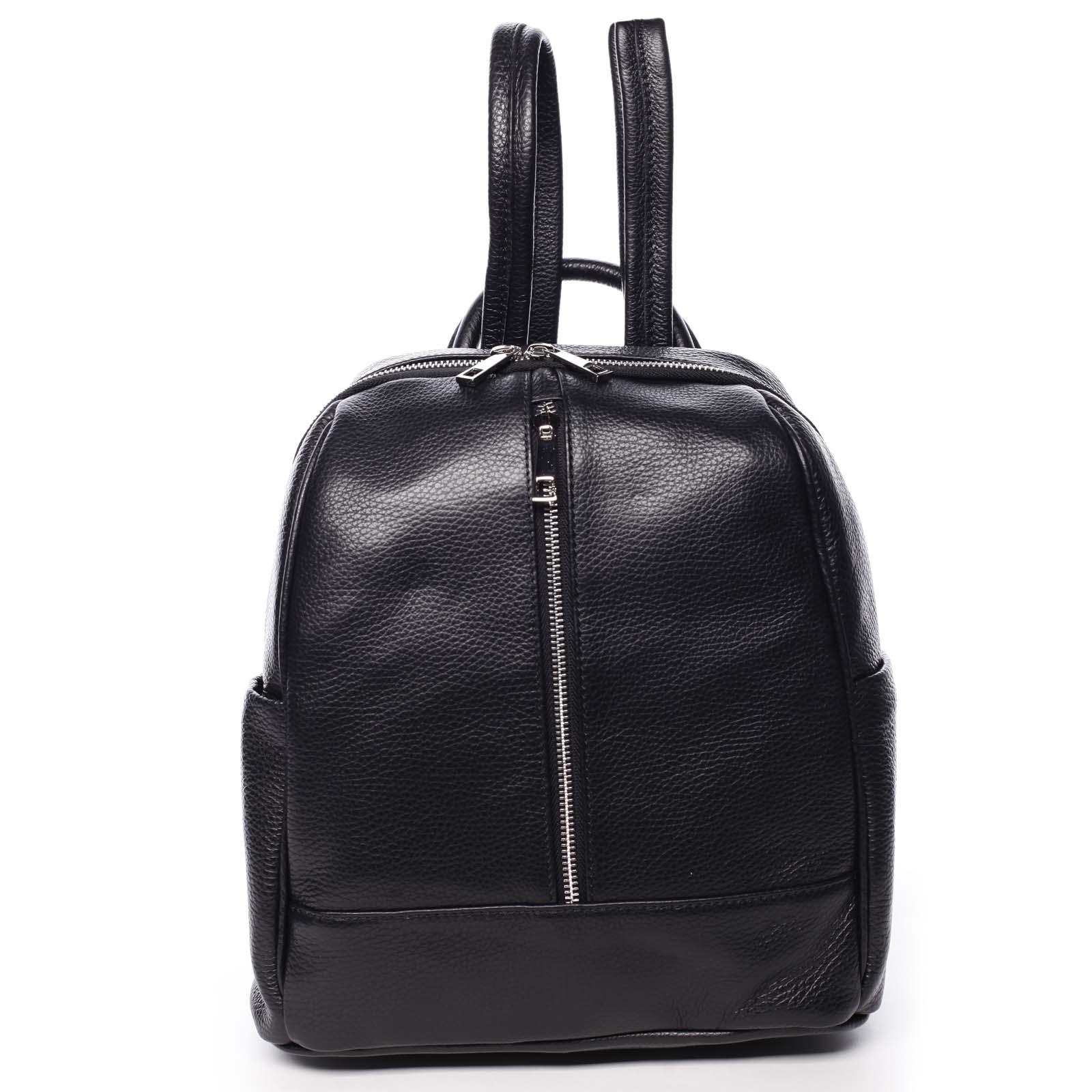 Dámský kožený batoh černý - ItalY Lissetta