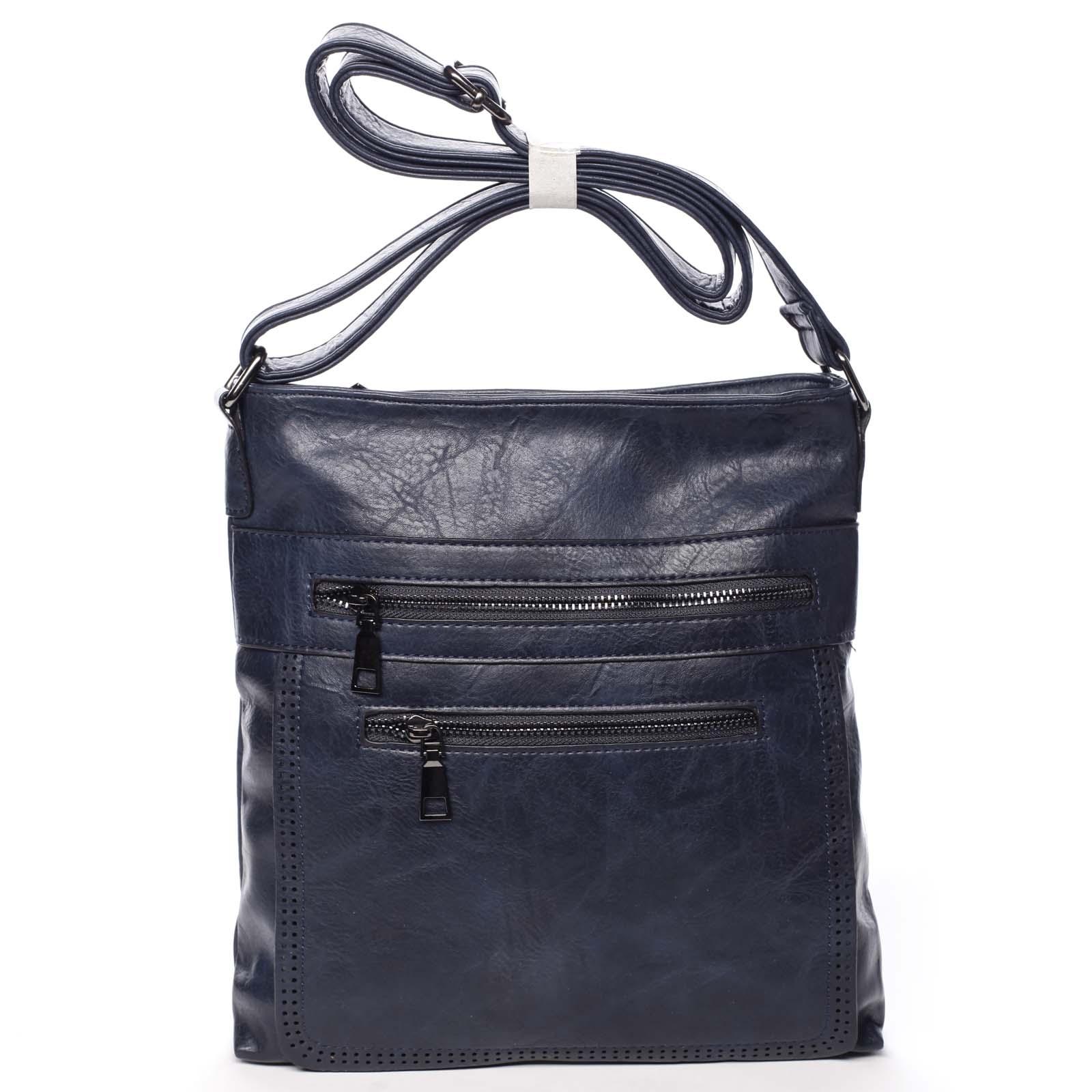 Moderní střední crossbody kabelka tmavě modrá - Delami Karlie