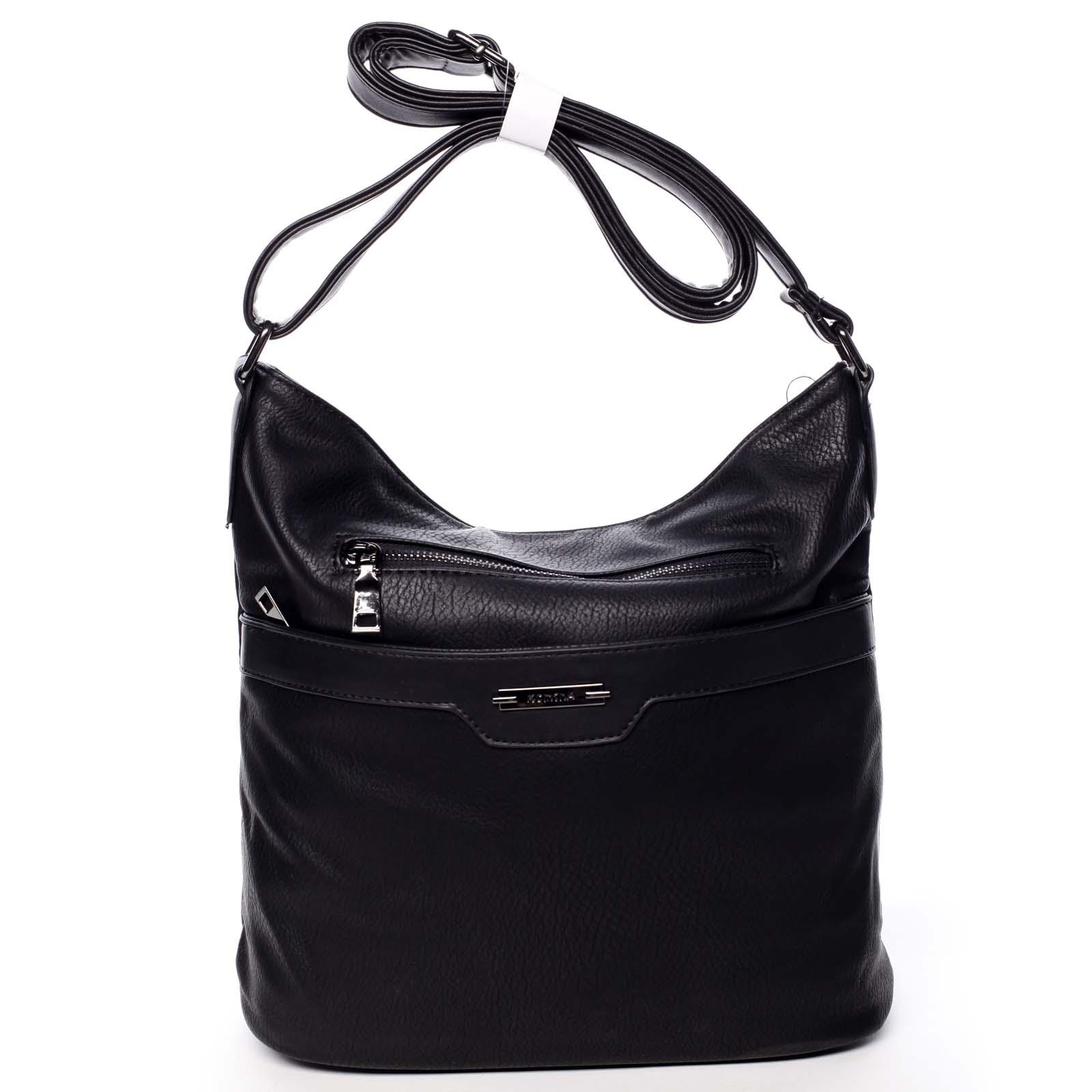 Dámská crossbody kabelka černá - Romina Elmina