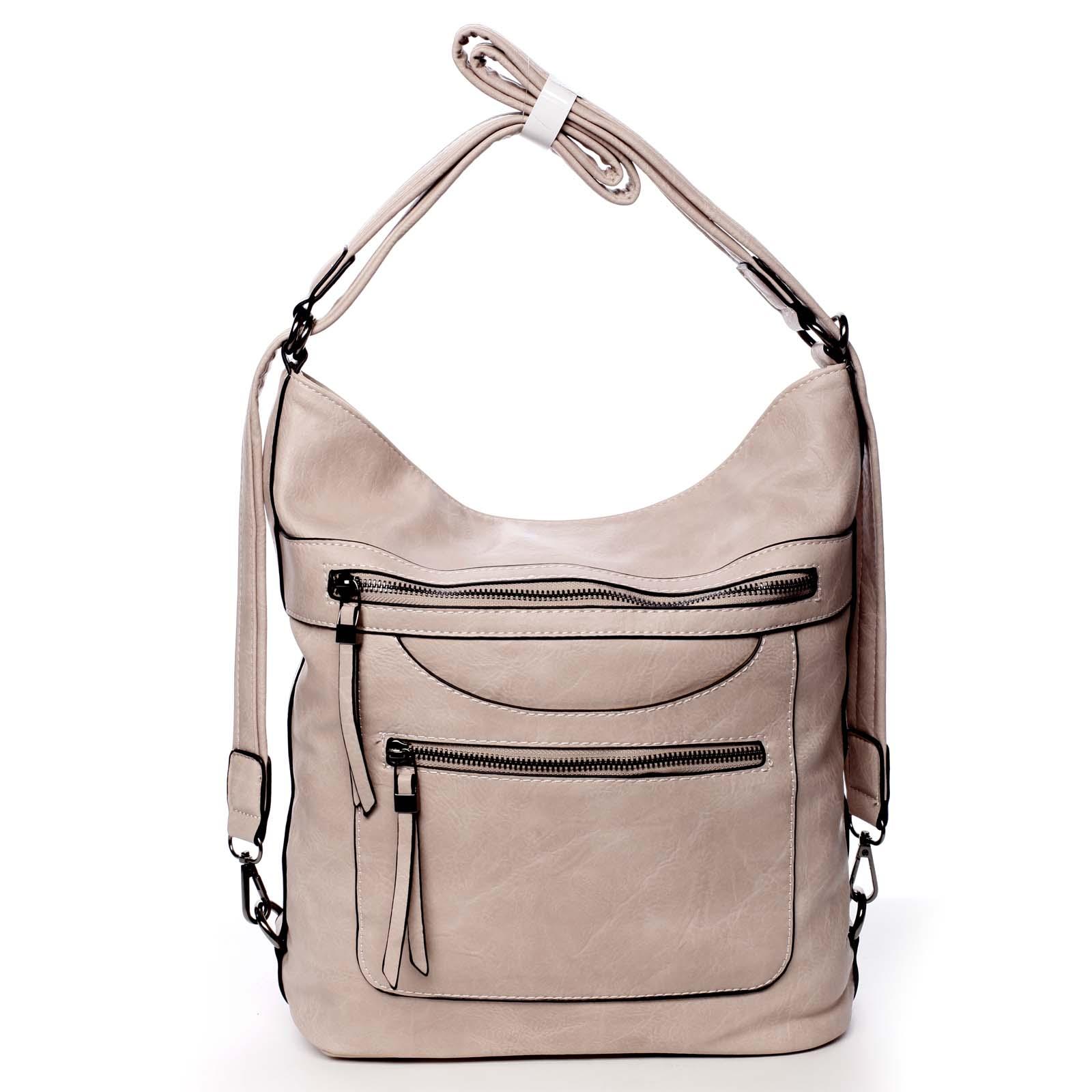 Dámská kabelka batoh světle růžová - Romina Pamila