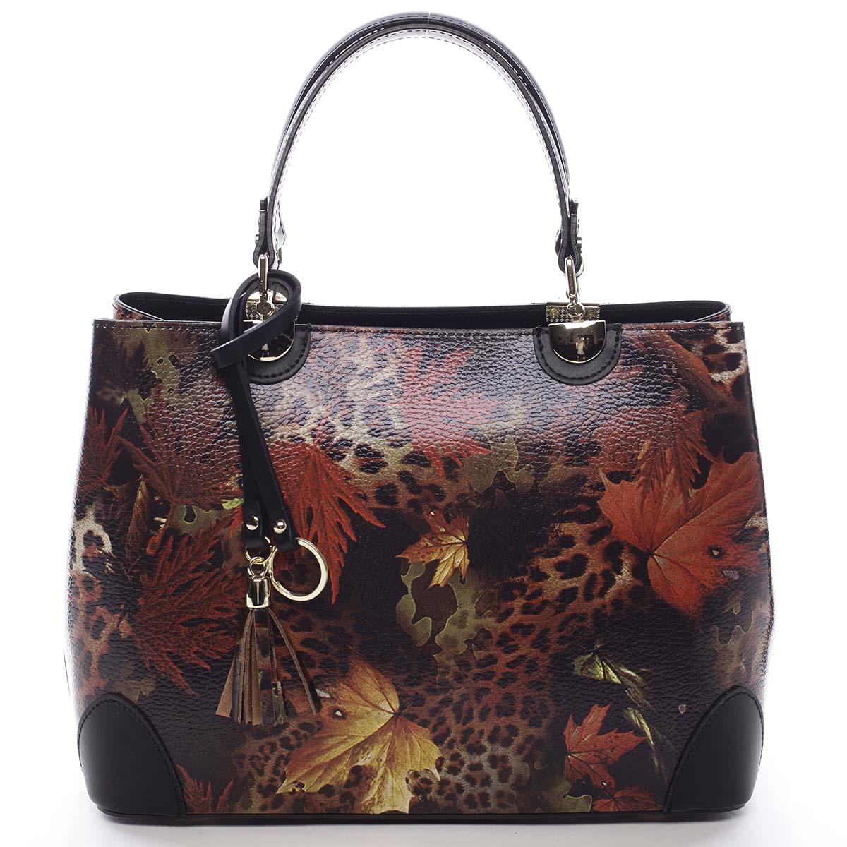 Originální dámská kožená kabelka podzimní černá - ItalY Mattie