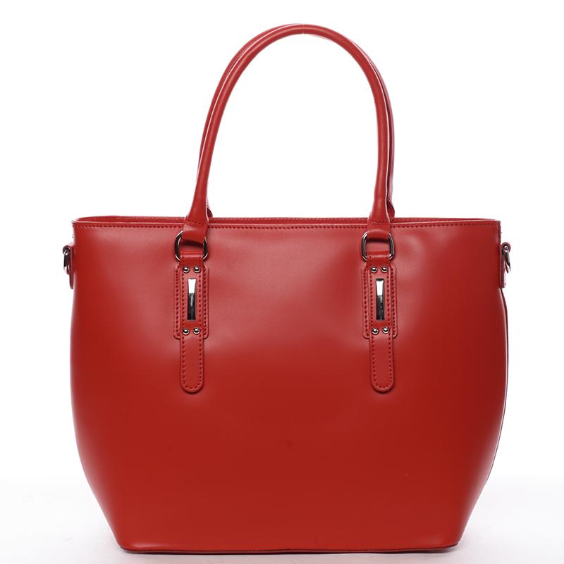 Dámská kožená kabelka červená - ItalY Laci