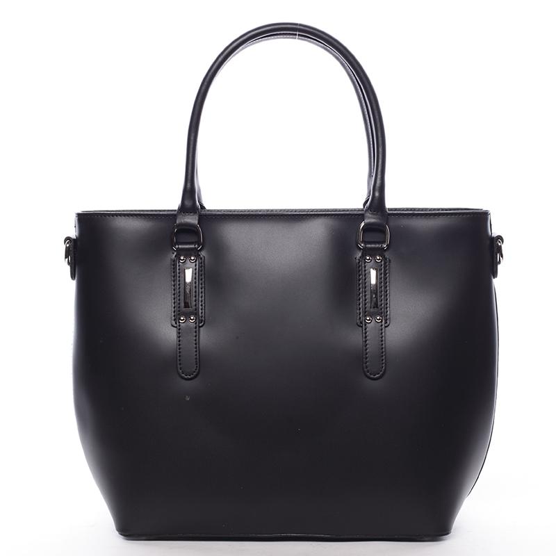 Dámská kožená kabelka černá - ItalY Laci