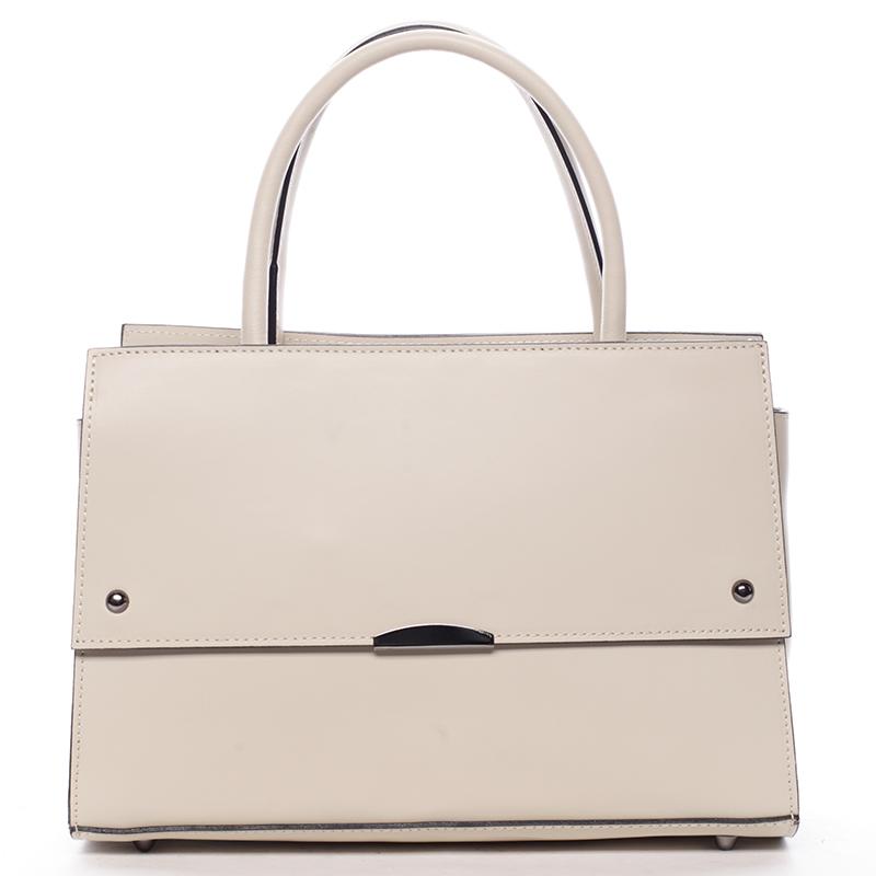 Exkluzivní dámská kožená kabelka béžová - ItalY Alita